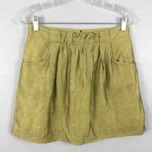 J Crew Skirt Linen Blend Charter Size 0 Pockets